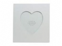 Gisela Graham - White wood heart picture frame